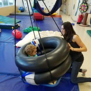 Swinging toddler